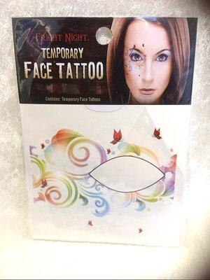 Face tatoo flower